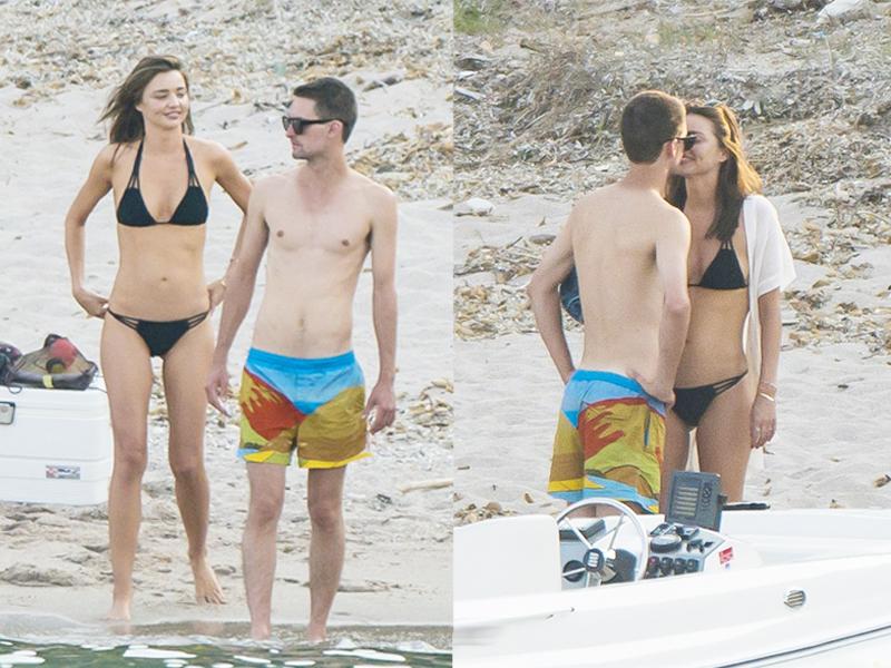 可儿穿比基尼展现好身材 与男友度假大秀恩爱 !