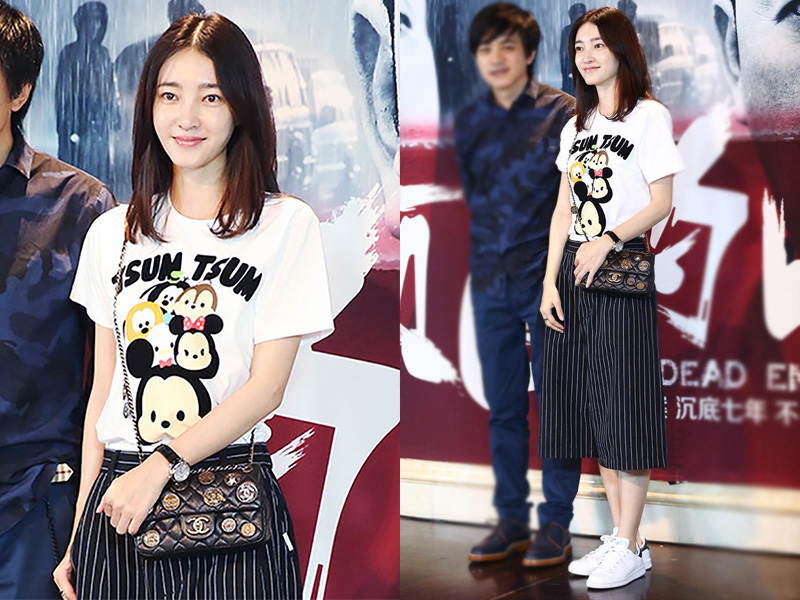 今天她最美 | 王丽坤 清秀美少女也爱阔腿裤