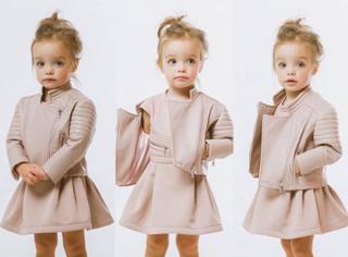 这个萌萝莉,才2.5岁就火爆了时尚圈,想我那么大还在玩泥巴……
