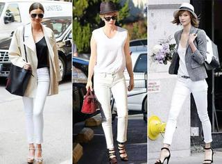 学会这样穿白色牛仔裤,帮你凹造型不再为它发愁