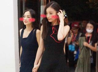 Angelababy倪妮闺蜜装小黑裙,好姐妹就是要一起美!
