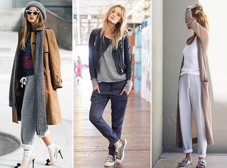 秋天必备 | 运动裤也能穿成白富美!