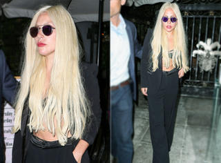 Lady Gaga瀑布头出街 这次又只穿了Bra!