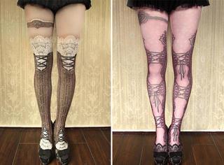 """史上最""""瘦腿""""的丝袜诞生!你们日本人真会玩!"""