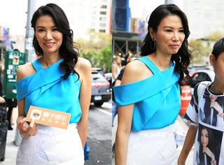 纽约时装周橘子君偶遇邓文迪,问了问她现在还好吗