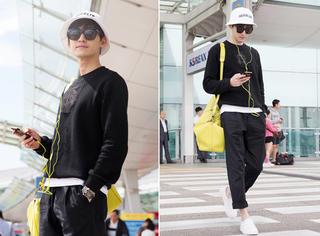 张翰时髦机场look 真是个清新阳光的大男孩呀!