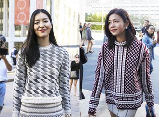 纽约时装周独家街拍 | 快看Tory Burch秀场外的刘雯和陈妍希撞衫啦!