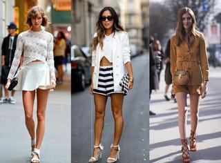 抓紧秀美腿!秋装配短裤/裙的3个最时髦方法