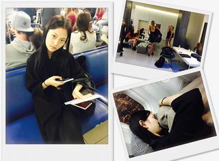 16岁超模的时装周日记 |  到伦敦的第二天,在机场与试装间穿梭