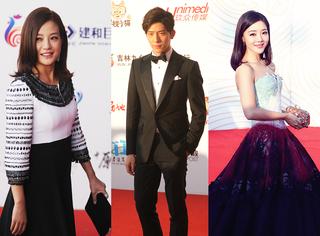 第30屆金雞獎紅毯 趙薇身材發福 井寶西服套裝盡顯成熟