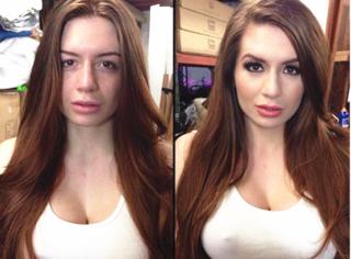 """18个AV女优化妆前后对比,原来她们从不""""轻装上阵""""!"""