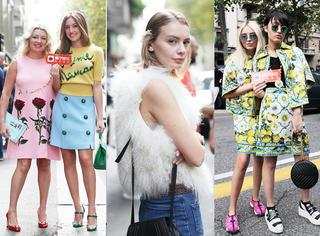 米兰时装周独家街拍 | 天气不冷不热,看场外达人穿什么?