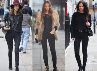 一条黑色裤子满足你秋冬所有穿搭