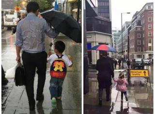 """两张照片诠释""""两种""""父爱!这次你支持中国爸爸还是外国爸爸?"""
