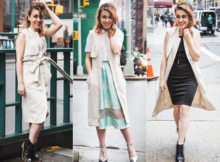 一件马甲裙,教你轻松hold住五种风格穿搭!