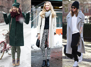 秋冬大衣你需要这样穿才能又美又有范!