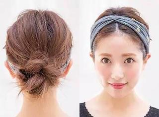 四款中长发型DIY告诉你,扎头发很简单!