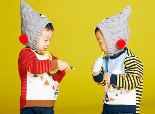 双胞胎书言书俊拍童装广告 小小的人儿萌死了!