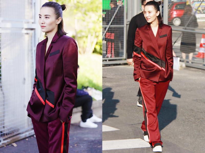 宋佳去巴黎看秀 这穿的是睡衣还是西服?
