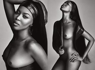 舔屏   Naomi Campbell:全裸出镜 上演黑白诱惑