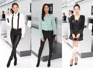 刘雯、白百何、欧阳娜娜、朴信惠乘坐同一航班 顺利抵达Chanel时髦国度