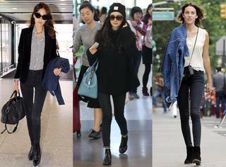 杨幂最爱的黑裤子就是超百搭!