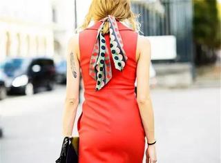 秋天,用纱巾变出惊艳连衣裙~看后都说太美了!