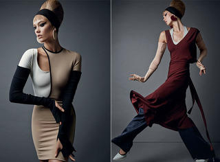 Karlie Kloss艺术感大片,这么拧巴的姿势也能拍的这么好看!
