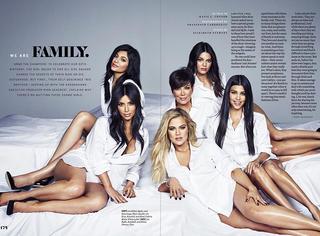 卡戴珊家族老妈带5个女儿拍大片 这一大家子娘子军!