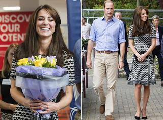 凯特王妃穿素雅连衣裙出席活动 和王子一起甜蜜百分百!