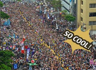 27万日本人用200米、重43吨的绳子拔河,果然粗的就是爽!