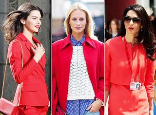 今年最潮的大红色应该这样穿!!太美了