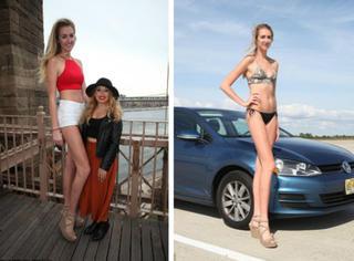 20岁妹纸拥有世界上最长大腿!可她现在最着急的是找到男票...