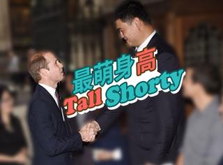 和姚明握手的人都成了最萌身高差,就连1米92的威廉王子也不例外!