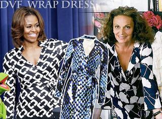 奥巴马夫人最爱的DVF围裹裙,每个女孩都要有一条!