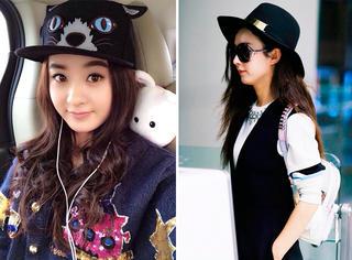赵丽颖这么喜欢戴帽子 小圆脸选啥款才有瘦脸功能?