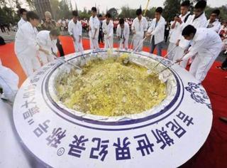 挑战吉尼斯记录的世界最大扬州炒饭,被吉尼斯宣布无效了