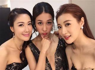 TVB颁奖礼红毯斗艳  总感觉这几位女星会分分钟从胸前掏出一把枪......