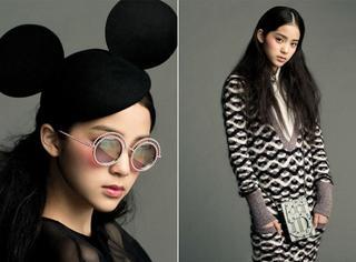 欧阳娜娜登Vogue Taiwan 十月刊,明眸皓齿颜好气质佳!