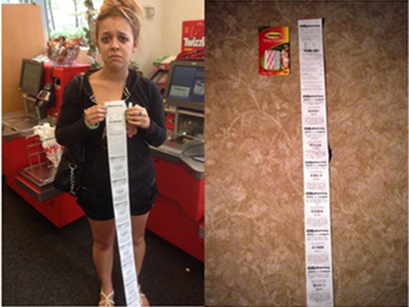 妹子只买了盒糖收据小票就有1米长,那上面写的竟然都是…
