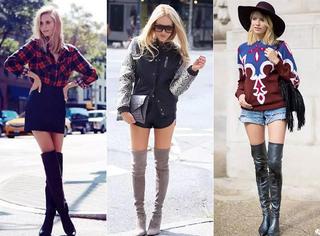 拯救小粗腿!米兰达可儿最爱的过膝靴帮你美美过冬!