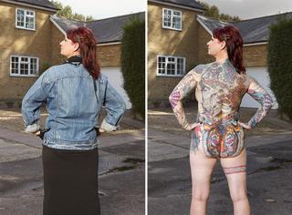 """当""""纹身狂人""""把身上所有的衣服都脱光时,会是什么样子?"""