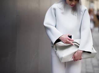 大冬天的,白色要怎么穿?