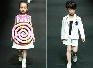 萌娃军团大闹中国国际时装周,蛋糕棒棒糖hello Kitty全给泥萌