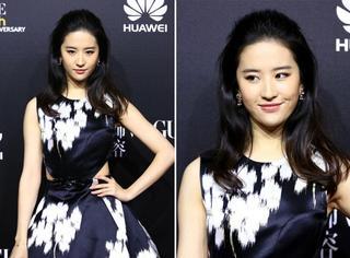 神仙姐姐回来了!刘亦菲穿Dior优雅小礼服裙是要美死谁