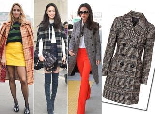 【一衣多穿】降温天  一件格纹大衣凹出高段位造型