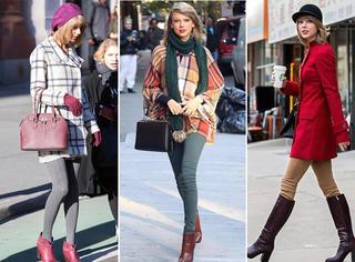 长裤和靴子更适合秋冬,难怪她穿的那么漂亮!