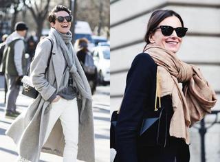 围巾和衣服可以这样搭,直接照着穿!