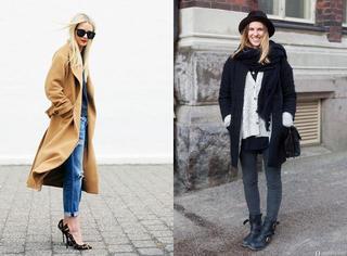 秋冬季,听说毛衣+大衣可以穿出高逼格?