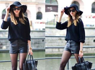 黑色毛衣学她这样穿,分分钟美爆整条街!!